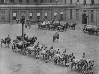 Queen Victoria's Diamond Jubilee Carriage In The Grounds Of Buckingham Palace