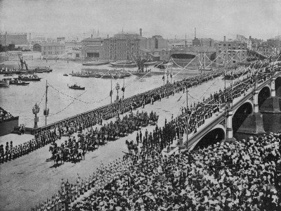 Colonial Troops on Westminster Bridge During Queen Victoria's Diamond Jubilee