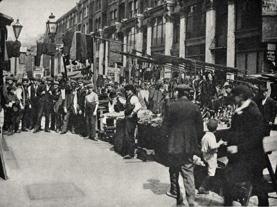 Petticoat Lane Market, East End of London