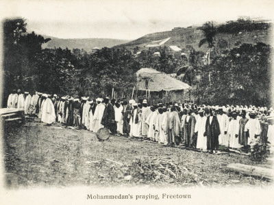 Muslims Praying in Sierra Leone.