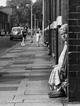 Old Lady Sitting in a Doorway - Manchester 1968