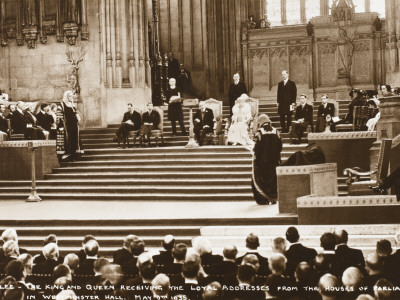 George V Silver Jubilee Address at Houses of Parliament