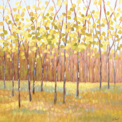 Yellow and Green Trees (center) Posters
