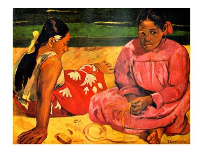 Femmes tahitiennes sur la plage