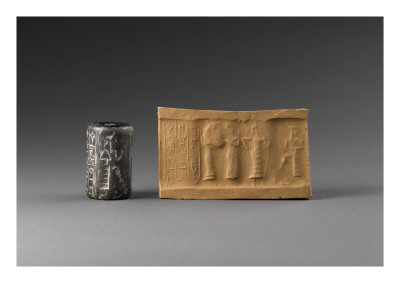 Cylinder Seal: Stage Presentation in Front of Deities