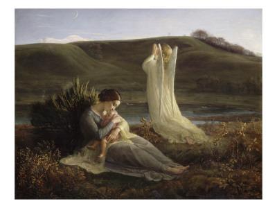 angel praying painting