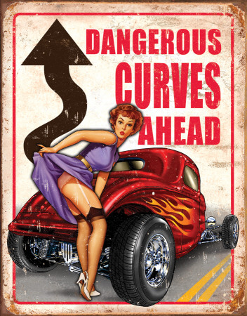 Legends - Dangerous Curves Tin Sign