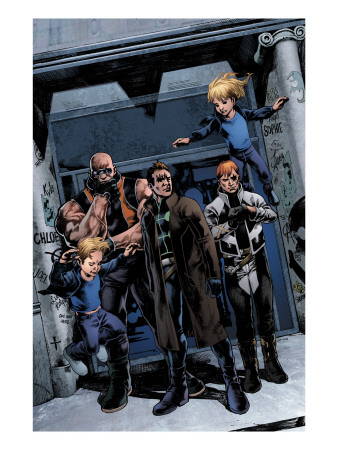 X-Factor #200 Group: Richards, Franklin, Richards, Valeria, Madrox, Strong Guy and Shatterstar