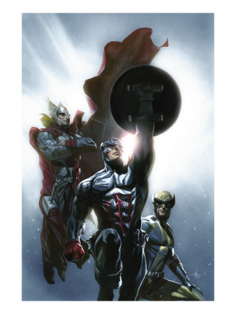 Secret Invasion #8 Cover: Captain America, Wolverine and Thor