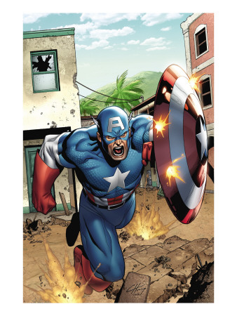 Marvel Adventures Super Heroes #8 Cover: Captain America