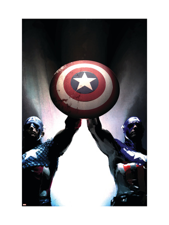 Captain America Reborn: Who will weild the shield? Cover: Captain America Art Print