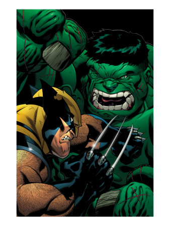 World War Hulk: X-Men No.2 Cover: Wolverine and Hulk