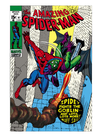 The Amazing Spider-Man #97 Cover: Spider-Man and Green Goblin