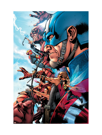 The Ultimates 2 No.1 Cover: Captain America