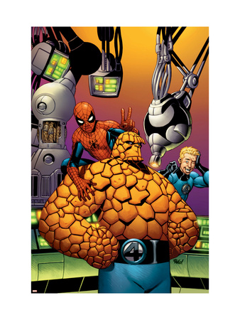 Fantastic Four #513 Cover: Thing, Spider-Man, and Johnny Storm