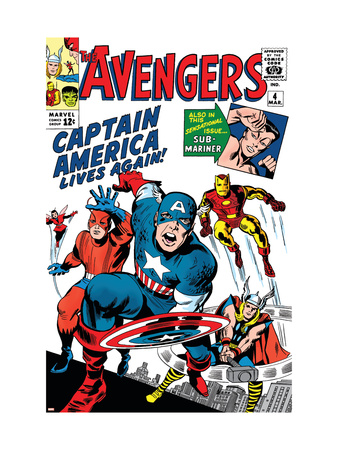 Avengers Classic #4 Cover: Captain America, Iron Man, Thor, Giant Man and Wasp