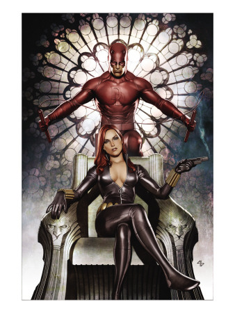 Black Widow: Deadly Origins #3 Cover: Invisible Woman and Daredevil