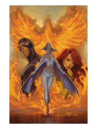 What if? Astonishing X-Men #1 Cover: Emma Frost, Phoenix and Cyclops