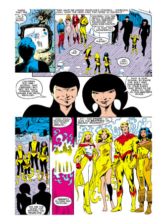 New Mutants Annual #2 Group: Magik, Magma, Cannonball, Moonstar and New Mutants