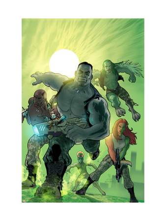 World War Hulk: Gamma Corps #1 Cover: Griffin, Prodigy, Mess, Mr. Gideon and Grey