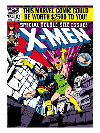 Marvel Comics Retro: The X-Men Comic Book Cover #137, Phoenix, Colossus