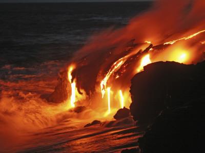 Kilauea Lava Flow Sea Entry, Big ...