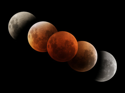 Composite Image of Lunar Eclipse