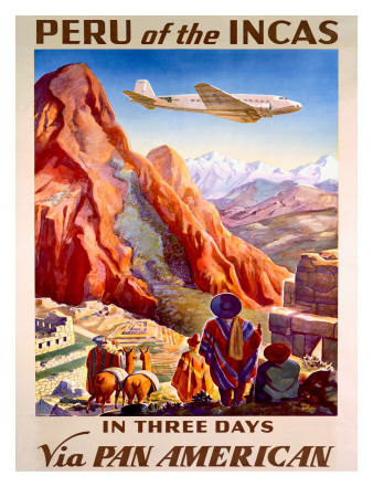Pan American Peru of the Incas Poster Posters
