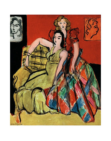 Two Young Women, the Yellow Dress and the Scottish Dress, c.1941 - Art Print