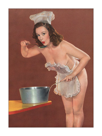 Pin Up Cook - Giclee Print