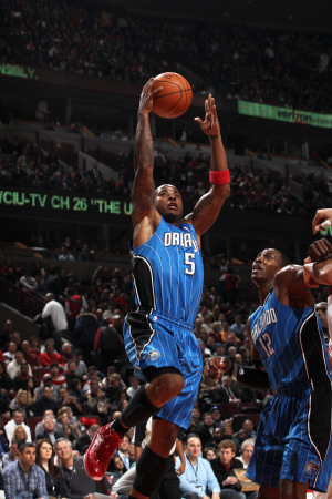 Orlando Magic v Chicago Bulls: Quentin Richardson and Dwight Howard