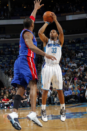 Detroit Pistons v New Orleans Hornets: Willie Green and Tracy McGrady