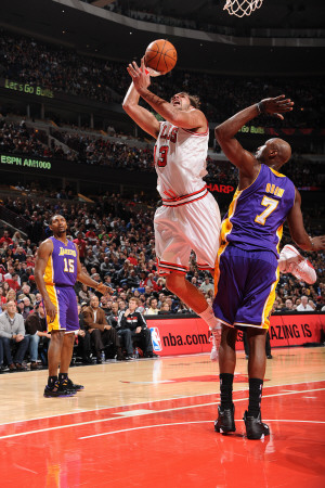 Los Angeles Lakers v Chicago Bulls: Joakim Noah and Lamar Odom