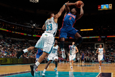 Detroit Pistons v New Orleans Hornets: Rodney Stuckey and Willie Green