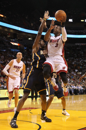 Indiana Pacers v Miami Heat: Dwyane Wade and Roy Hibbert