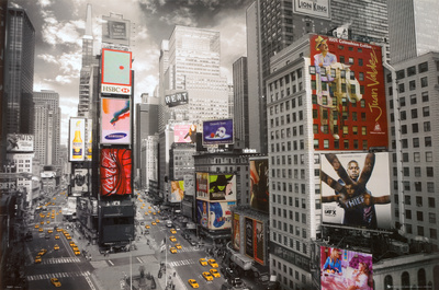 NEW YORK - Times square Aerial,
