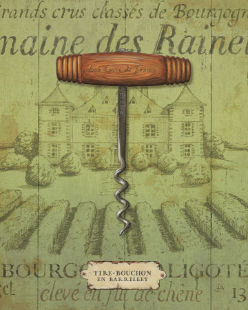 Antique Corkscrew I Art Print
