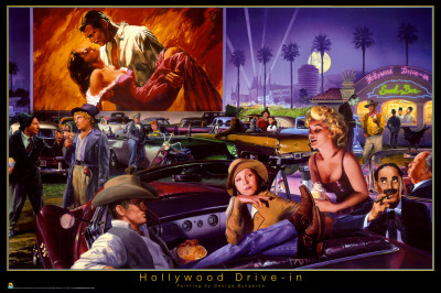 Hollywood Drive-In - George Bungarda Posters
