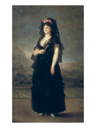 Queen Maria Luisa with Mantilla