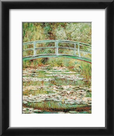 The Japanese Bridge Framed Art Print