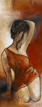 Seated Woman Panel II Art Print