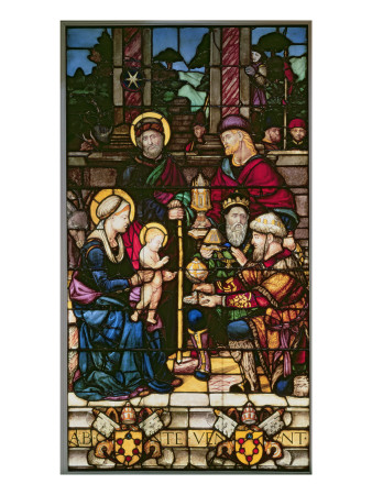 Adoration of the Magi, a Stained Glass Window Originally the Gift of Pope Leo X