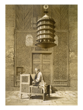 An Imam Reading the Koran in the Mosque of the Sultan, Morocco, 1817 Posters