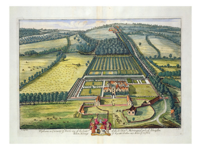 Wytham in the County of Berkshire Engraved by Johannes Kip