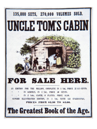 Poster advertising Uncle Tom's Cabin