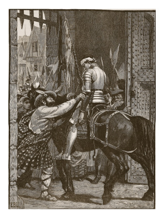 Edinburgh after Flodden, Illustration from 'Cassell's Illustrated History of England'