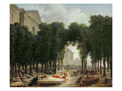 The Louvre and the Gardens of the Infanta, 1798