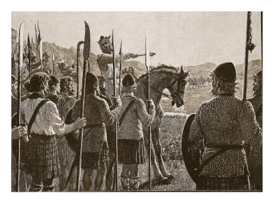 Bannockburn: Bruce Reviewing His Troops before Battle