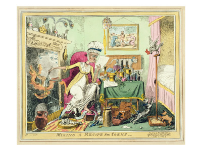 Mixing a Recipe for Corns, Published by G. Humphrey, London, December 4Th, 1822