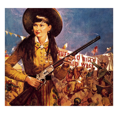 Sharpshooter Annie -- Annie Oakley and Her Gun